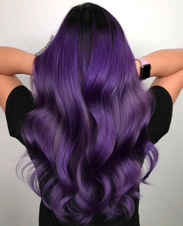 63 Purple Hair Color Ideas To Swoon Over Violet Purple Hair Dye Tips: MODERN SALON On Instagram: Gorgeous Royal Purple