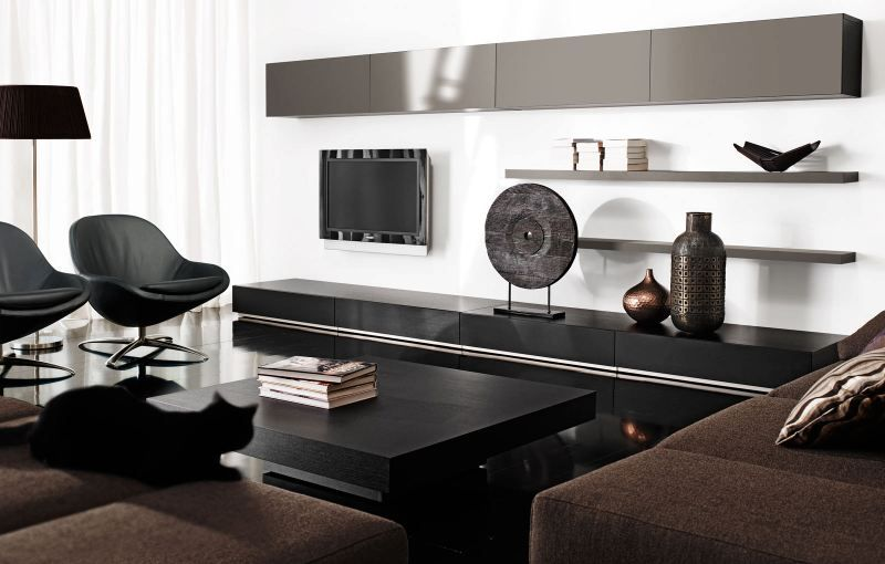 The Reduced Color Scheme Of This Living Room Creates An Elegant Atmosphere Wohnzimmer Modern Zeitgenossische Wohnzimmer Wohnzimmerdekoration