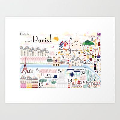 Ohlàlà ... c'est Paris ! Art Print by Silvia Robertelli - $22.00
