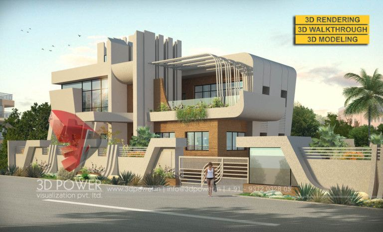The Best Modern 3d Bungalow Elevations By 3d Power