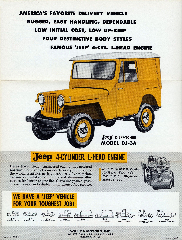 Jeep Dispatcher Model Dj 3a Willys Motors Inc Toledo Ohio
