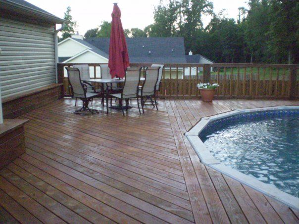 Same Deck Flush With Above Ground Pool Above Ground Pool