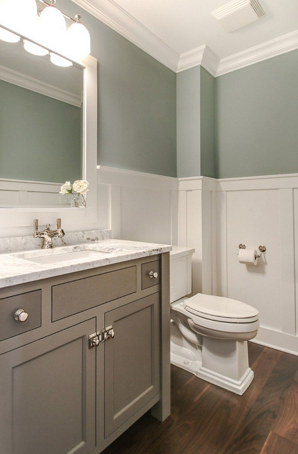 Pin by Decoria on Bathroom Decorating Ideas  Bathroom Tranquil bathroom Wainscoting bathroom