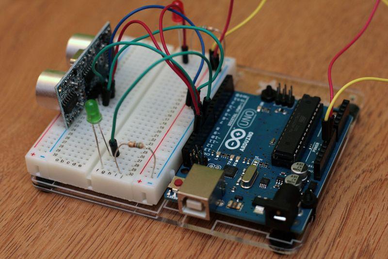 Simple arduino and hc sr04 example arduino amazon and box simple arduino and example 3 steps publicscrutiny Choice Image