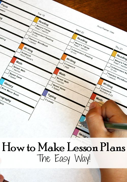 How To Make Easy Lesson Plans Easy Homeschool And School