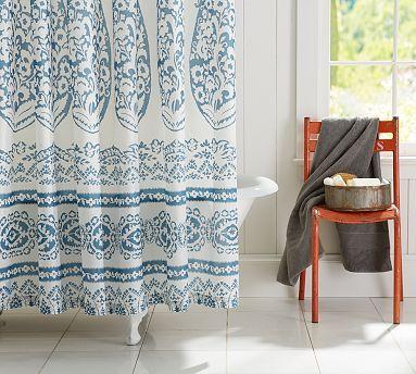 Lori Paisley Shower Curtain Potterybarn For Upstairs Bath