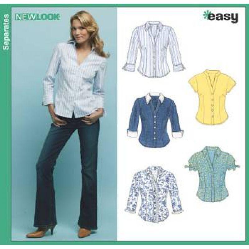 NewLook 6407 Bluse A 10-22 (36-48) | Pinterest | Blusen, Damenblusen ...