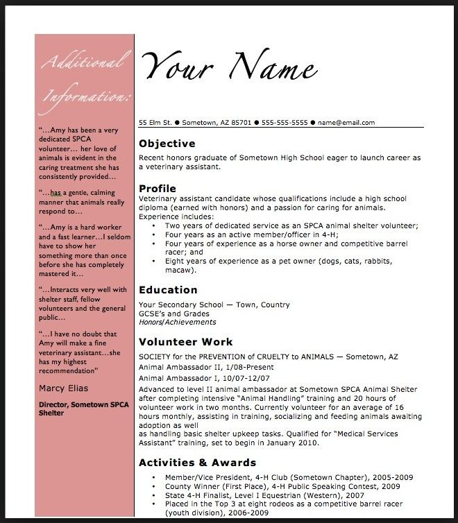 Free Basic Resume Format resume template Pinterest Basic