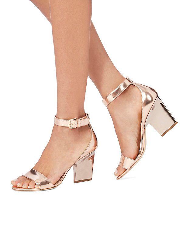 Edina Rose Gold Sandals | Jimmy choo