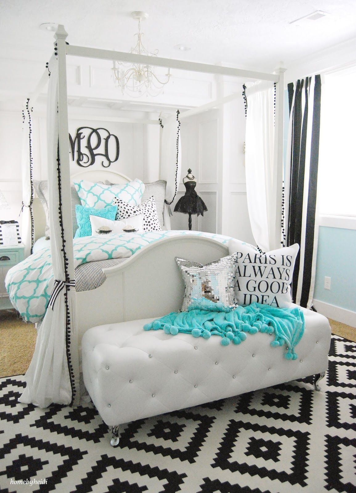15 Adorable Turquoise Room Ideas With Images Woman Bedroom Tween Girl Bedroom