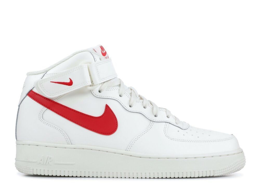 Ebay Sponsored Nike Air Force 1 Mid 07 Sail Red Sz 13 315123 126
