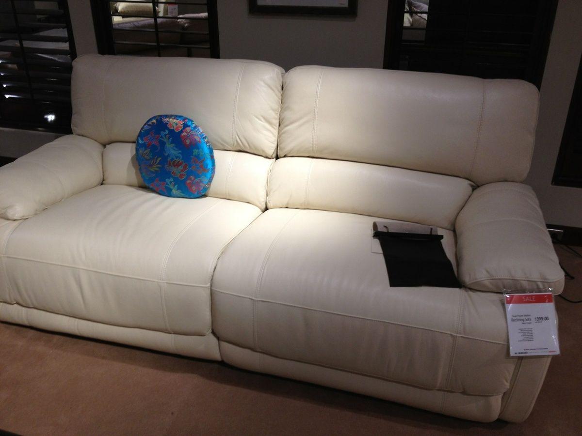 Reclining sofa at Macy's