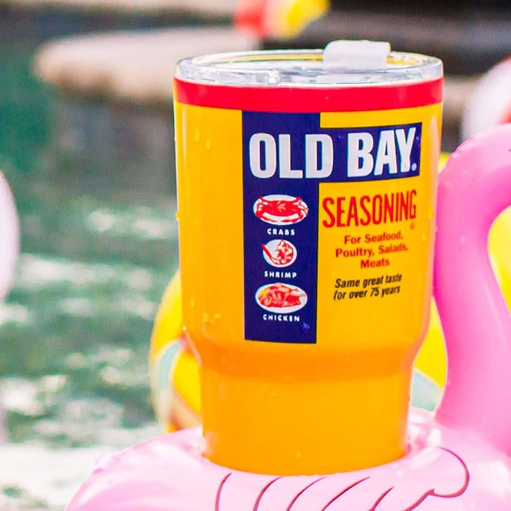 Old Bay Can Yellow  Tumbler