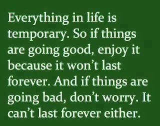 Everything In Life Is Temporary So If Things Are Going Good Enjoy