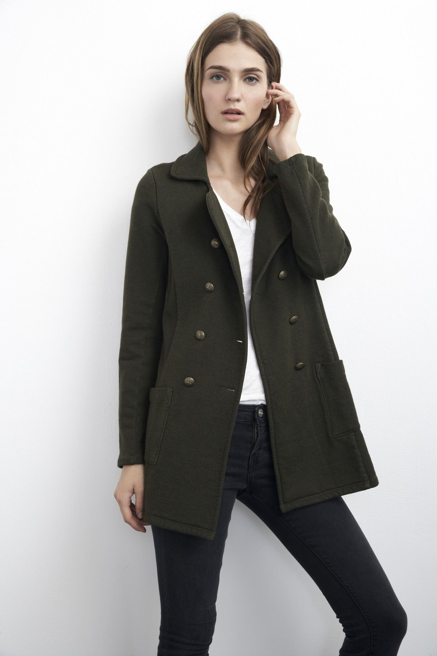 Velvet by Graham & Spencer ::Military Peacoat ::Basic Utility ::Made in USA