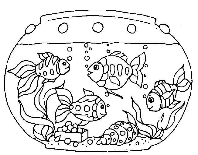 Desenho De Aquarios De Peixes Para Colorir With Images Fish