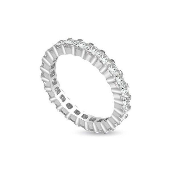 Full veretta anello 18ct oro bianco | Anello Full Eternity con Diamanti Taglio Princess montati in Griffe. Il peso totale carati per l` Anello varia da 1.00ct a 1.50ct. Tutti I Diamanti sono G colore e SI1 purezza. Questo anello e` accompagnato dal certificato del diamante.