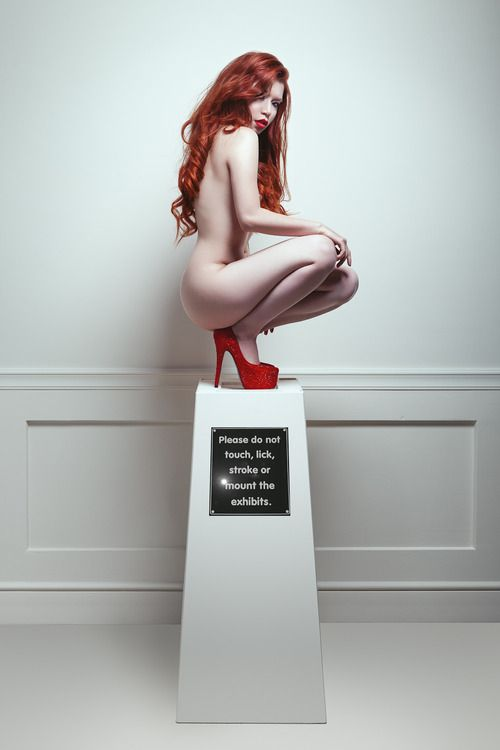 Photography model redhead exhibit erotic have