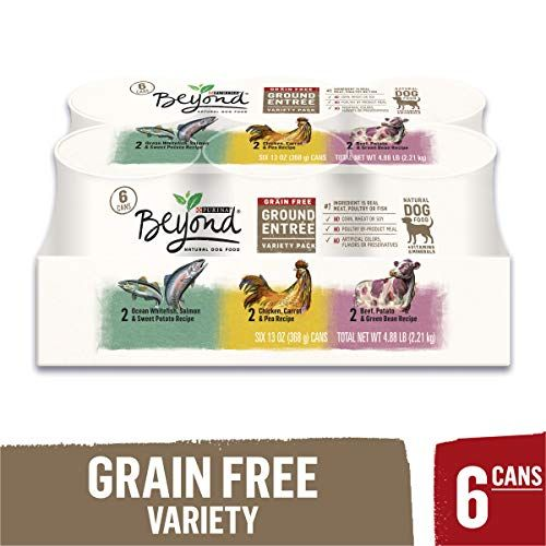 Purina Beyond Grain Free Natural Pate Wet Dog Food Variety Pack Grain Free Ground Entree