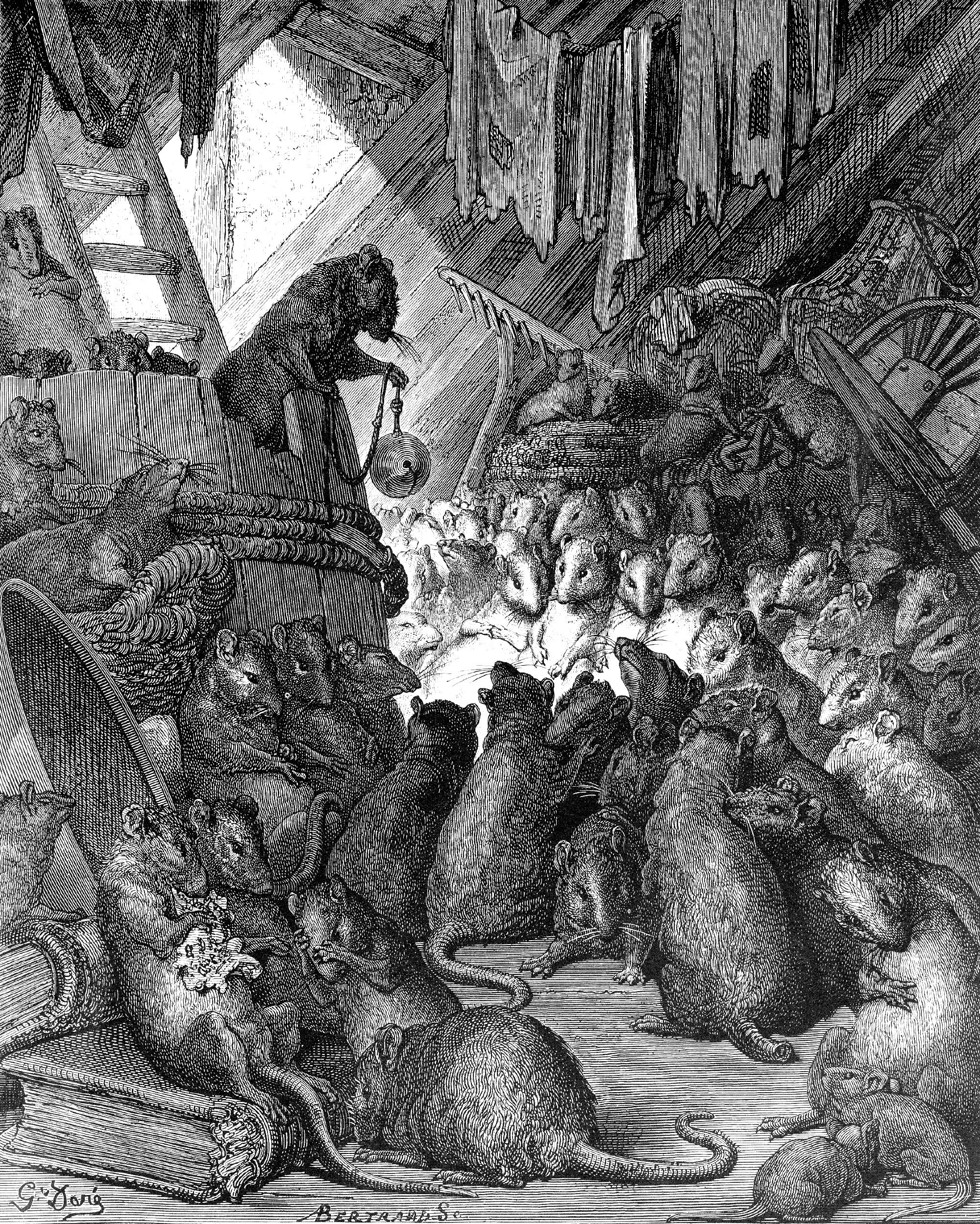 The rat council, Gustave Dore As the story (ascribed to