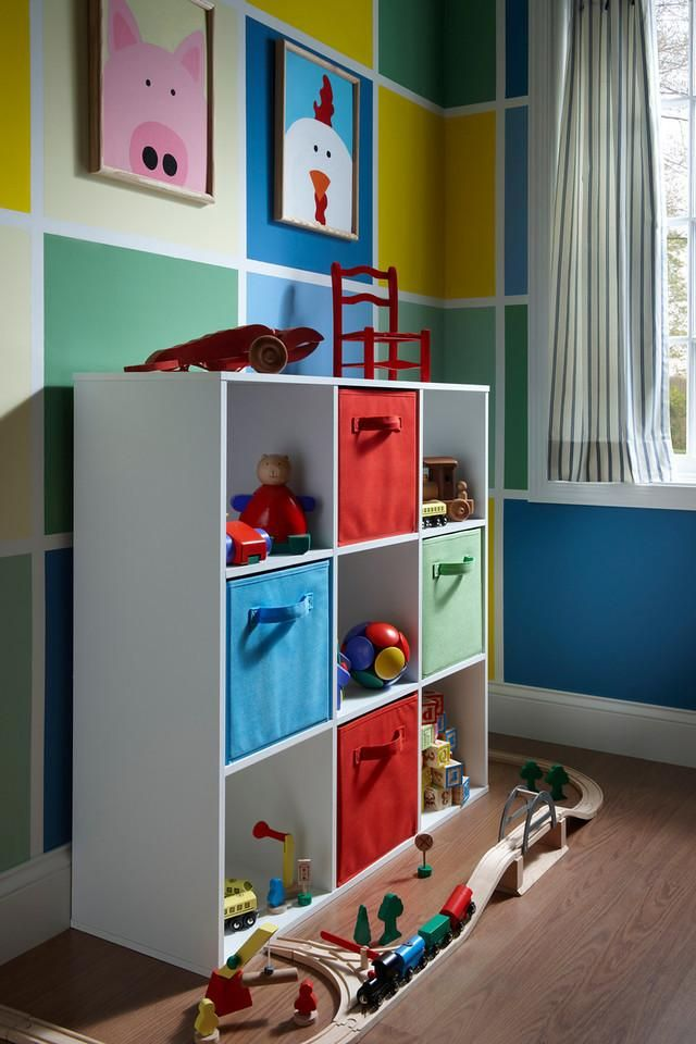 ClosetMaid Cubeicals And Fabric Drawers Are A Simple Solution To Keeping  All The Toys In One