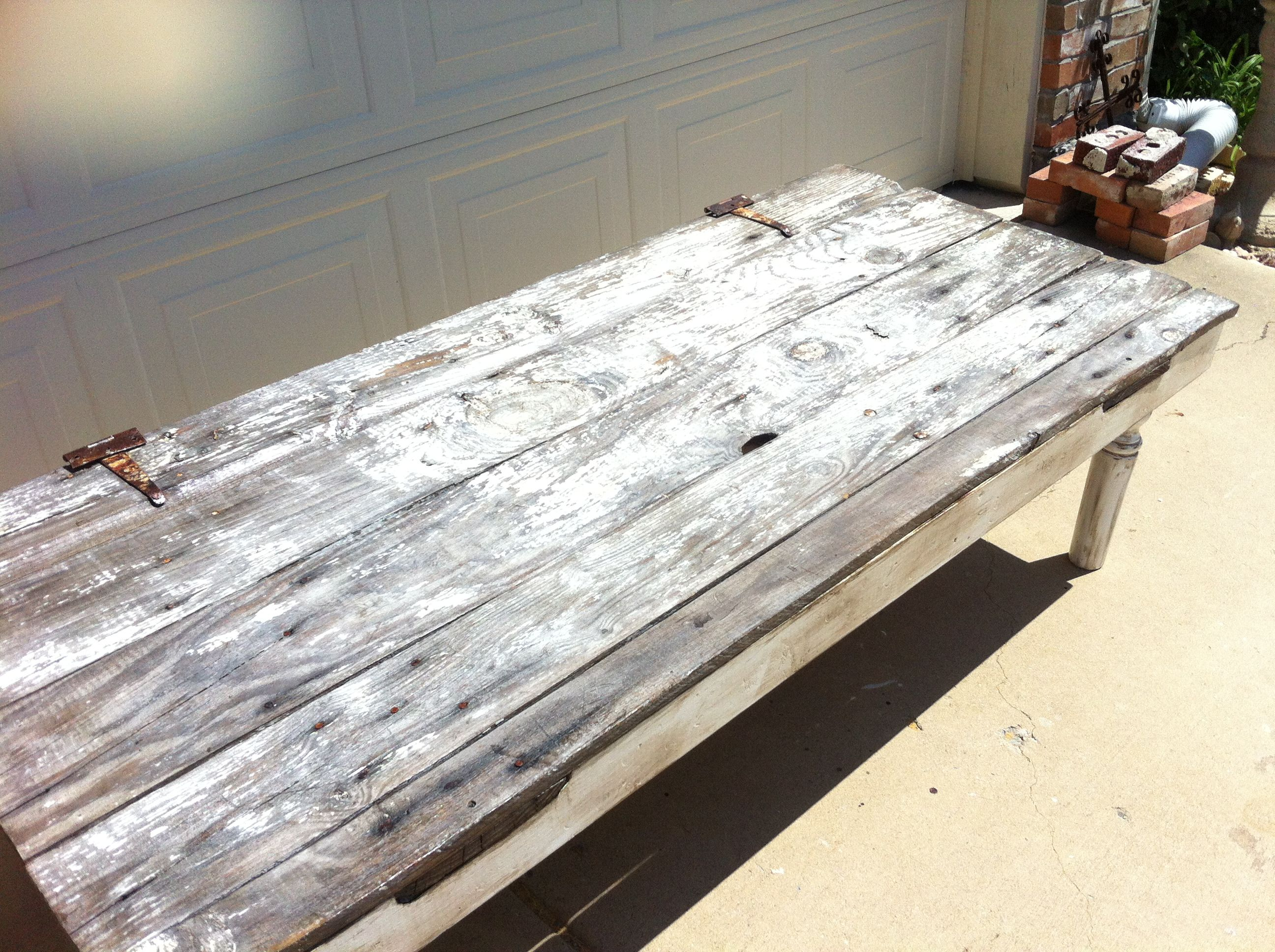 Coffee Table Made From A 80 Year Old Barn Door For Sue Lynn