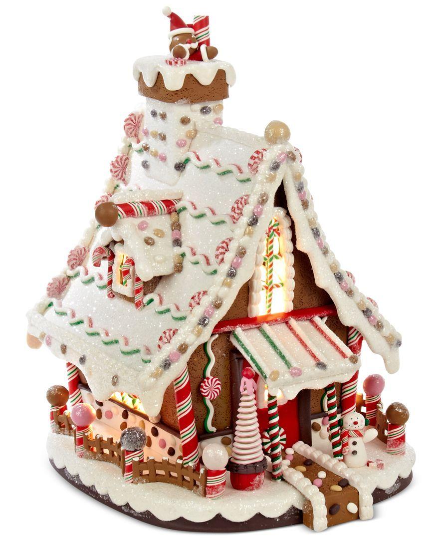 kurt adler lighted gingerbread house products. Black Bedroom Furniture Sets. Home Design Ideas