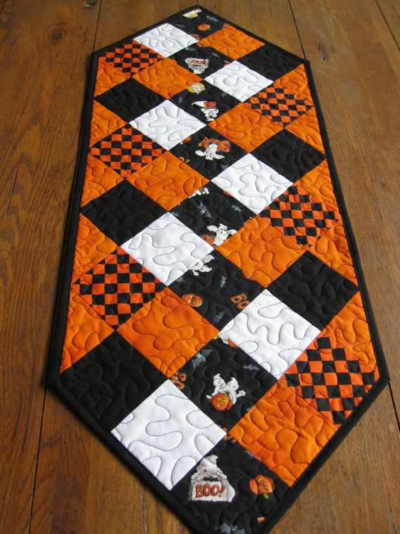 Halloween Table Runner By Quiltedhearts5 On Etsy Table