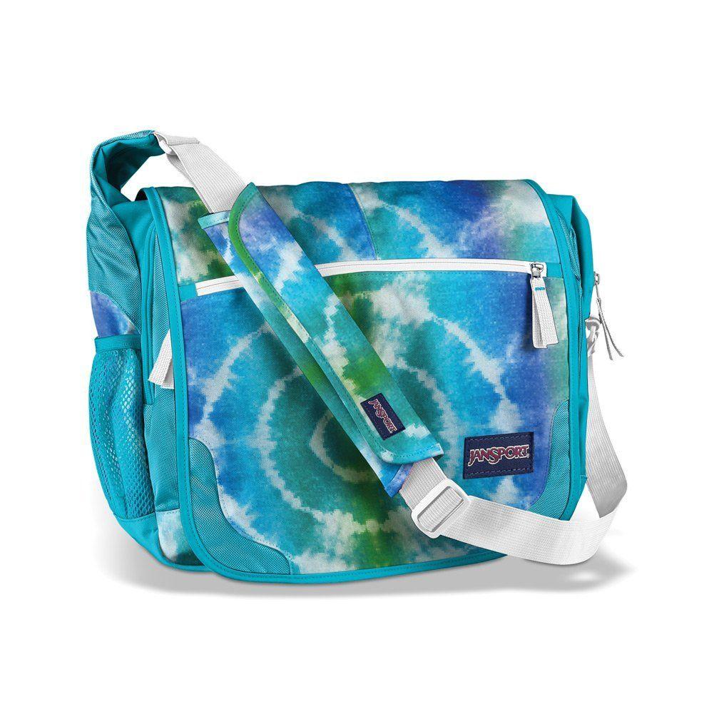 b9e73cba55 JanSport Elefunk Printed Messenger Bag for girls. Fit 15 inch laptops and  iPads. Mesh water bottle pocket on the side. Adjustable shoulder straps.