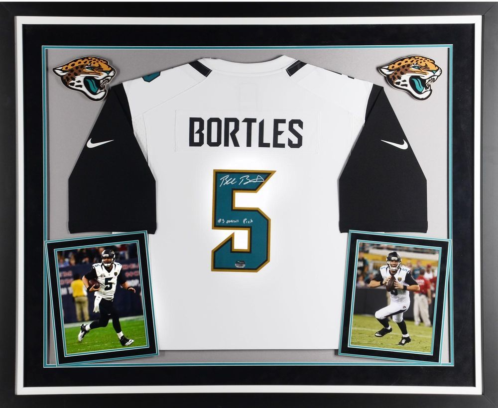 Blake Bortles Jax Jaguars Framed Signed Game Jersey with #3 Overall ...