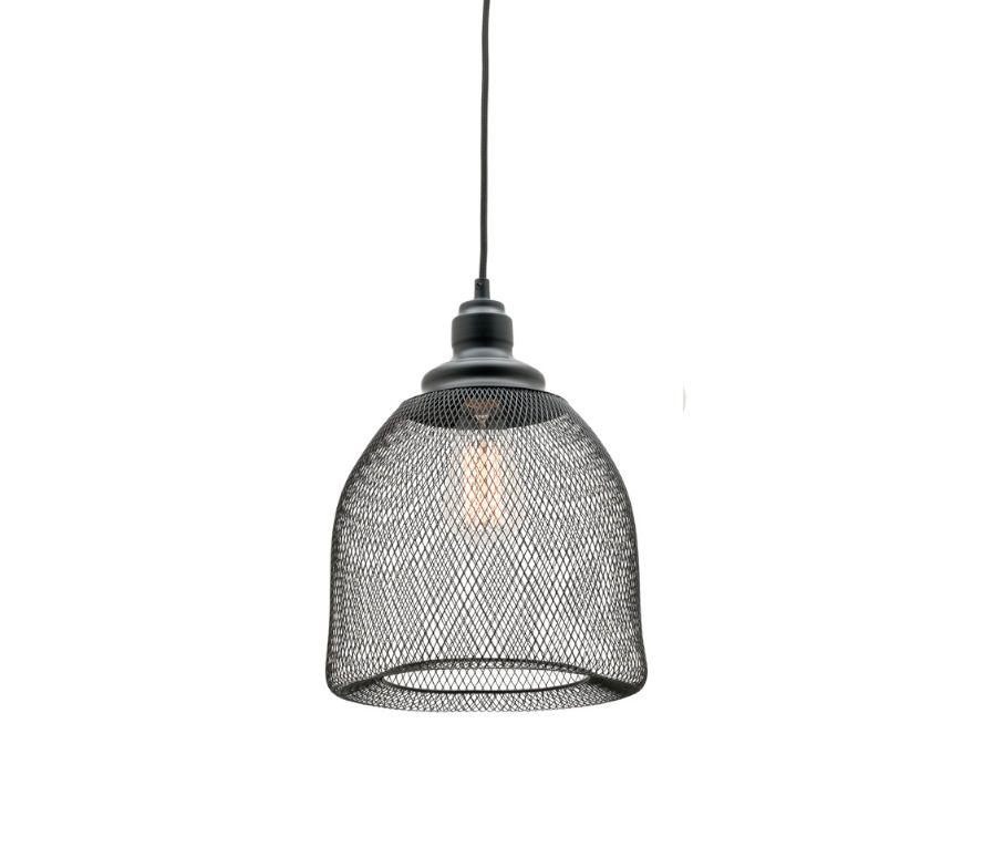 Dustin Small 1 Light Ceiling Pendant Black Wire Mesh Mercator ...