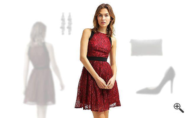 Rotes Kleid in Kurz kombinieren + 3 Rote Outfits für Lea: http://www ...