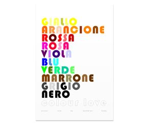 Colours Poster   Italian   Large