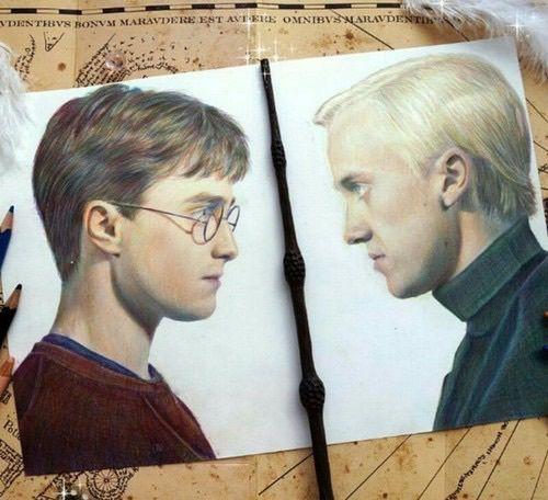 Harry Potter Vs Drago Malfoy Harry Potter Artwork Harry Potter Drawings Harry Potter Art Drawings