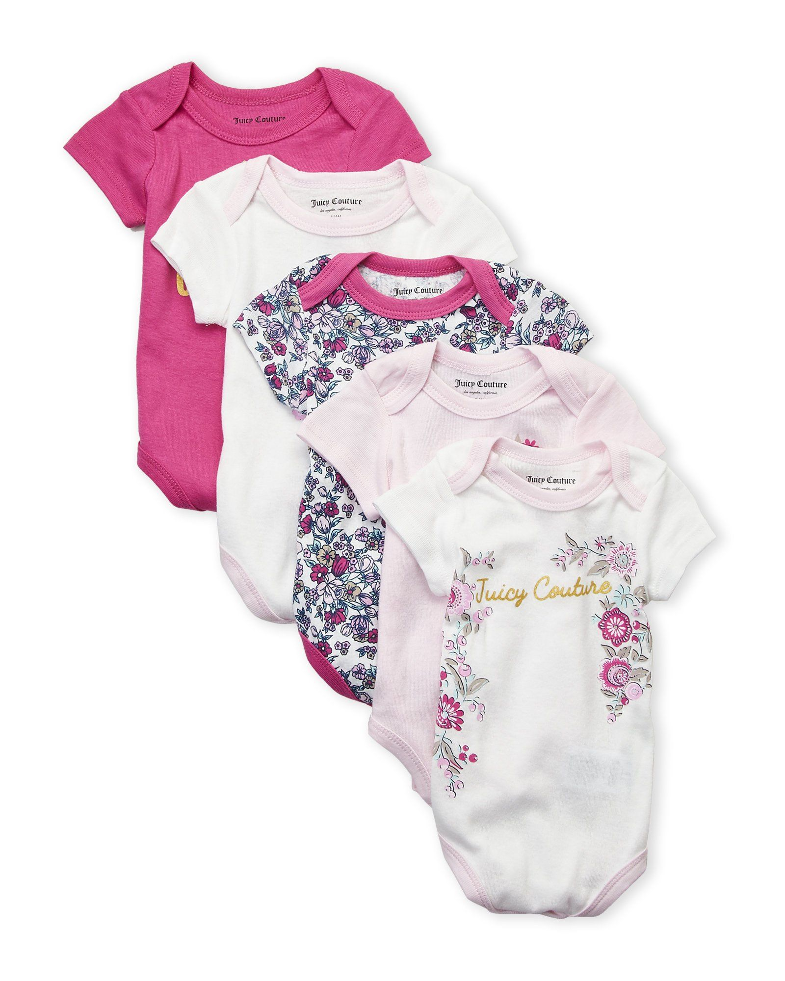 958b75575 JUICY COUTURE Infant Baby Girl 5-Pk Floral Onesie SET | Fashion For ...