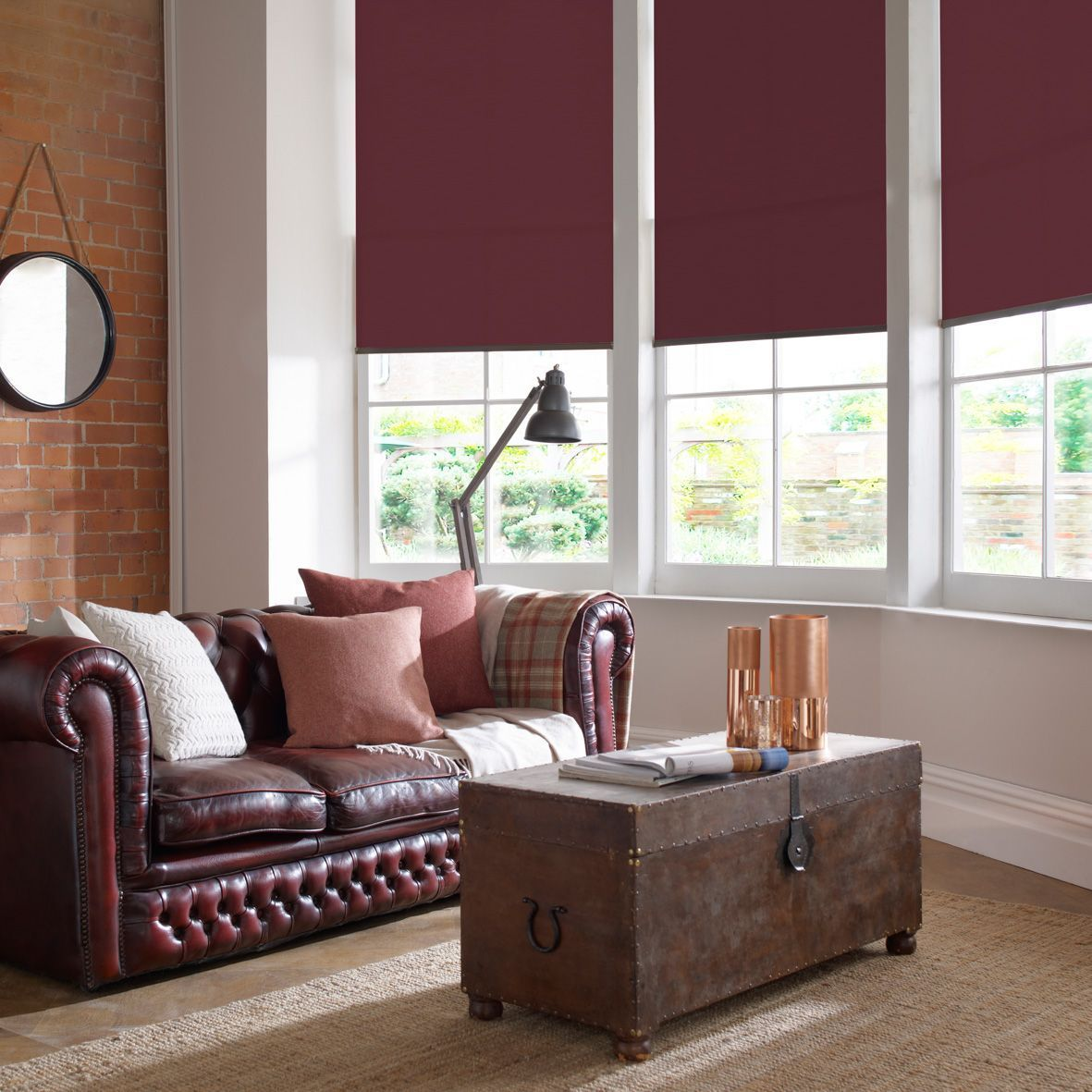 1c681656f8e Name   Polaris Made-to-Measure Red Wine Roller Blinds Min Max Width   240mm    2400mm Min Max Drop   400mm   1800mm Comes With   Standard chord opening  ...