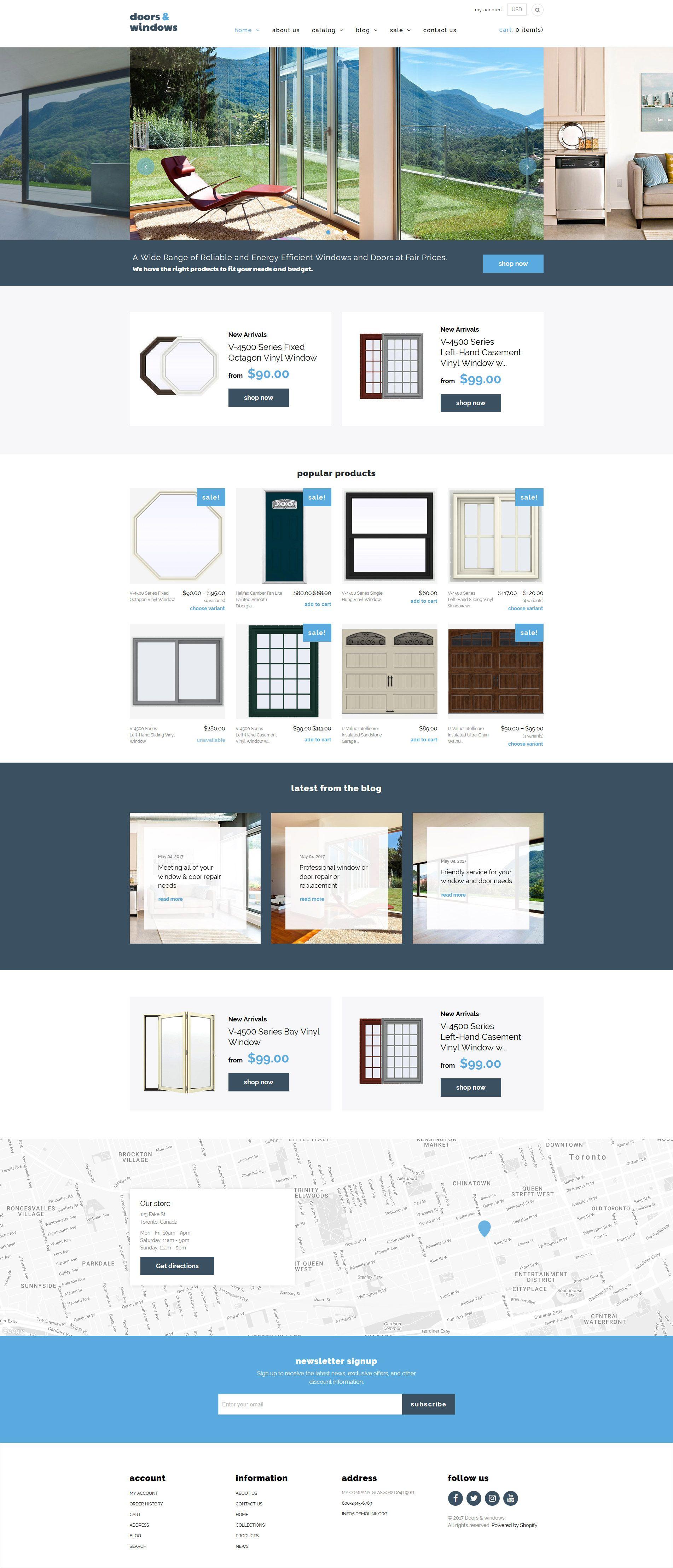 Windows & Doors Responsive Shopify Theme   Shopify Themes   Web