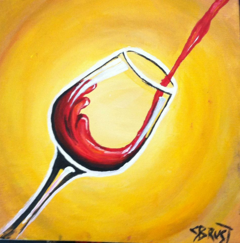 red wine painting | Artists Uncork\'d | Pinterest | Wine painting ...