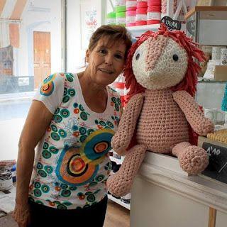 Terrific large #crochet doll via Bigunki spanish blog