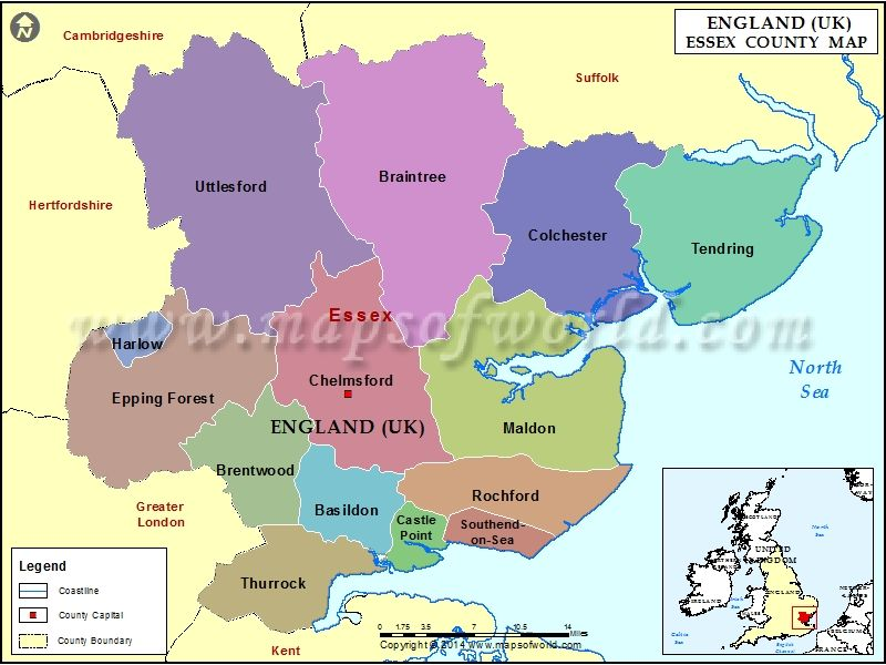 County Map of Essex Maps Pinterest Essex county England map