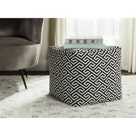 better homes and gardens greek key pouf available at walmart com rh pinterest com