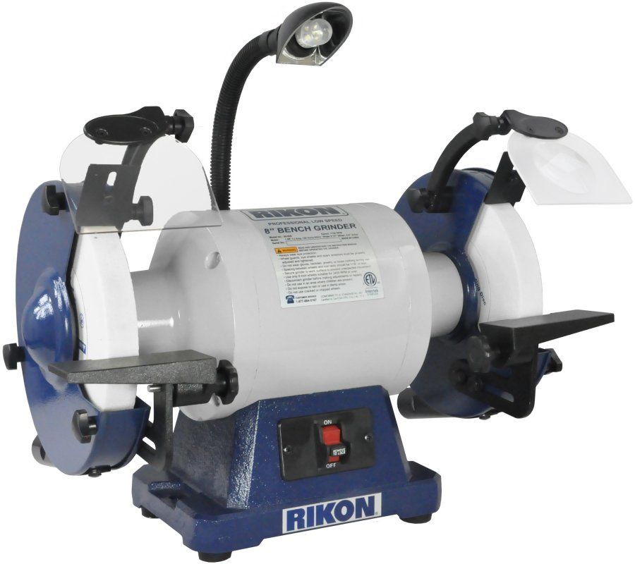 Rikon 8 Inch Professional Low Speed Bench Grinder 80 808 Bench Grinder Bench Grinders Grinder