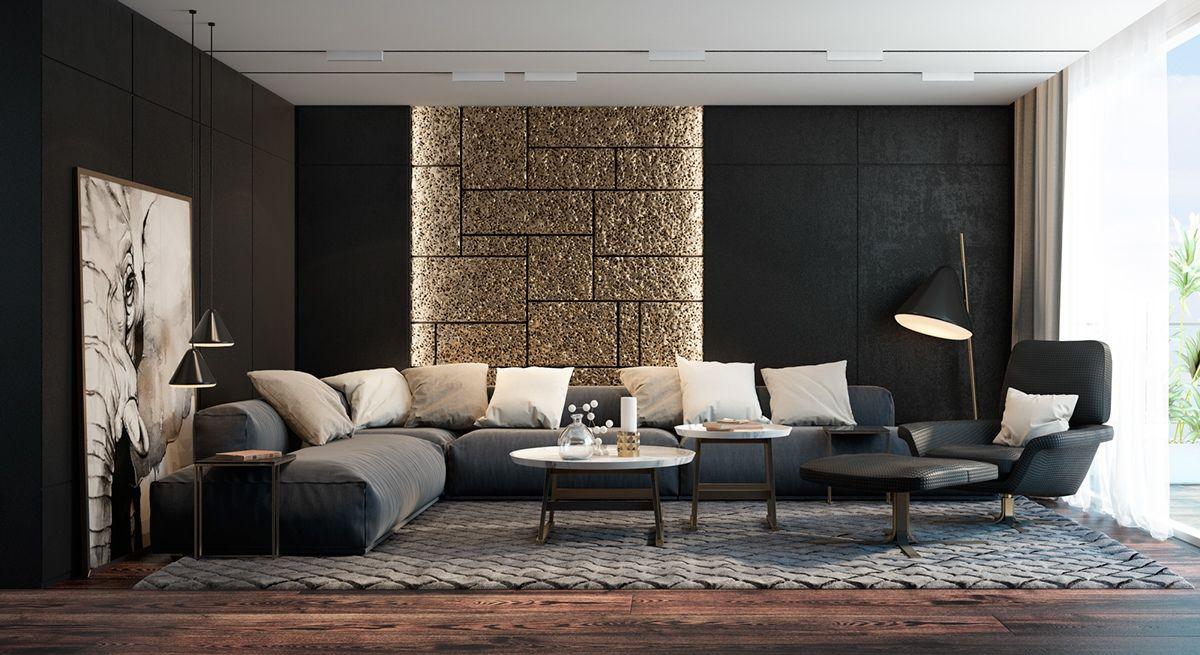 Schwarze Wohnzimmer Ideen Und Inspiration #ideen #inspiration #schwarze # Wohnzimmer #wohnzimmerideen