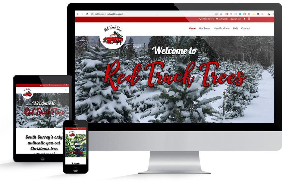 Red Truck Trees White Rock Web Design Reactive Designs Web Design Moose Jaw Saskatchewan Web Design Red Truck Design