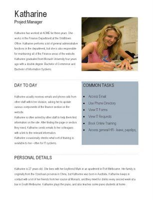 Persona Example - Katherine, Project Manager (Microsoft Word - microsoft word template flyer