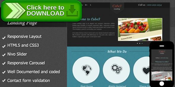 Themeforestfree Nulled Download Cube3 Landing Page From Http