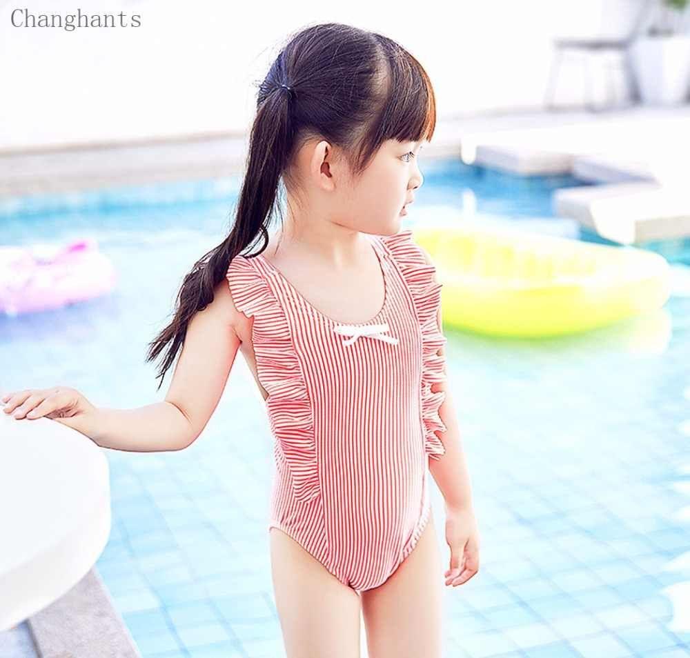 Baby Toddler Boys Zippered Swimsuit Swimwear Striped Bathing Swimming Suit Beach