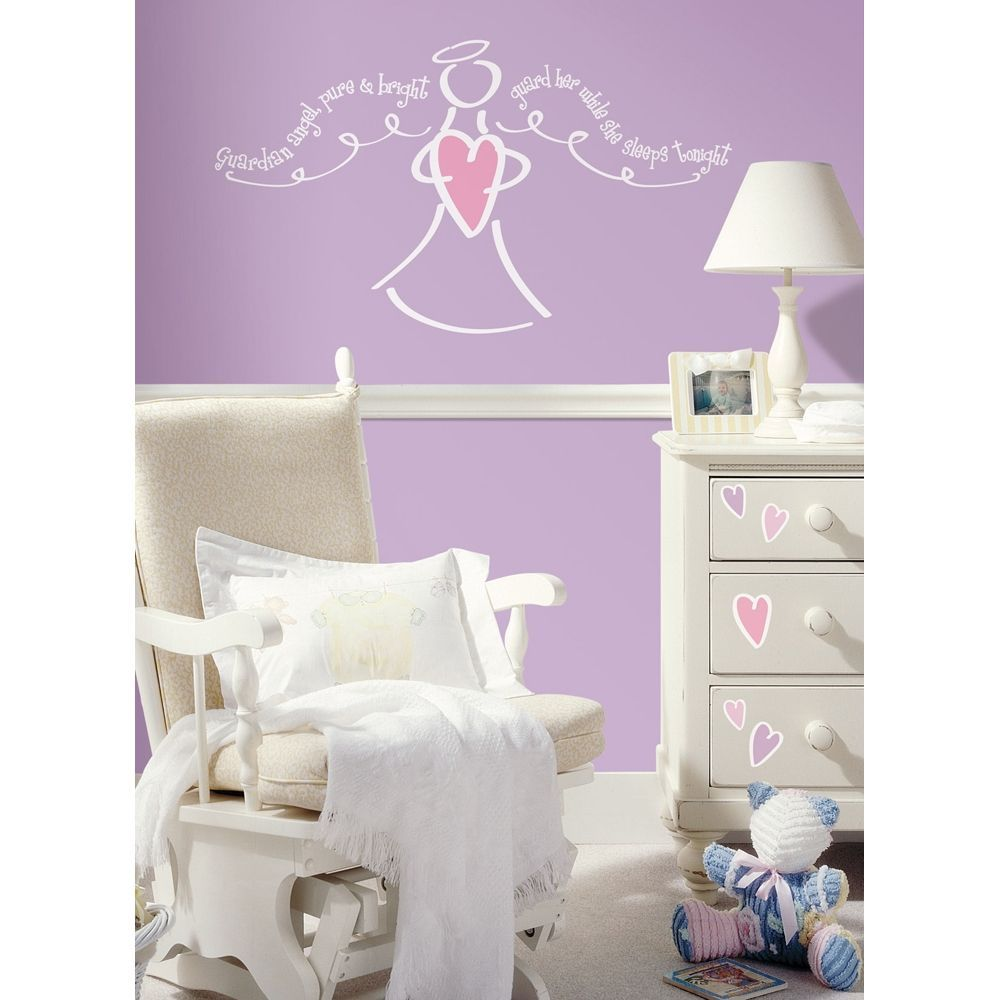 angel wall decals children s wall stickers guardian angel children s wall stickers guardian angel giant wall decal