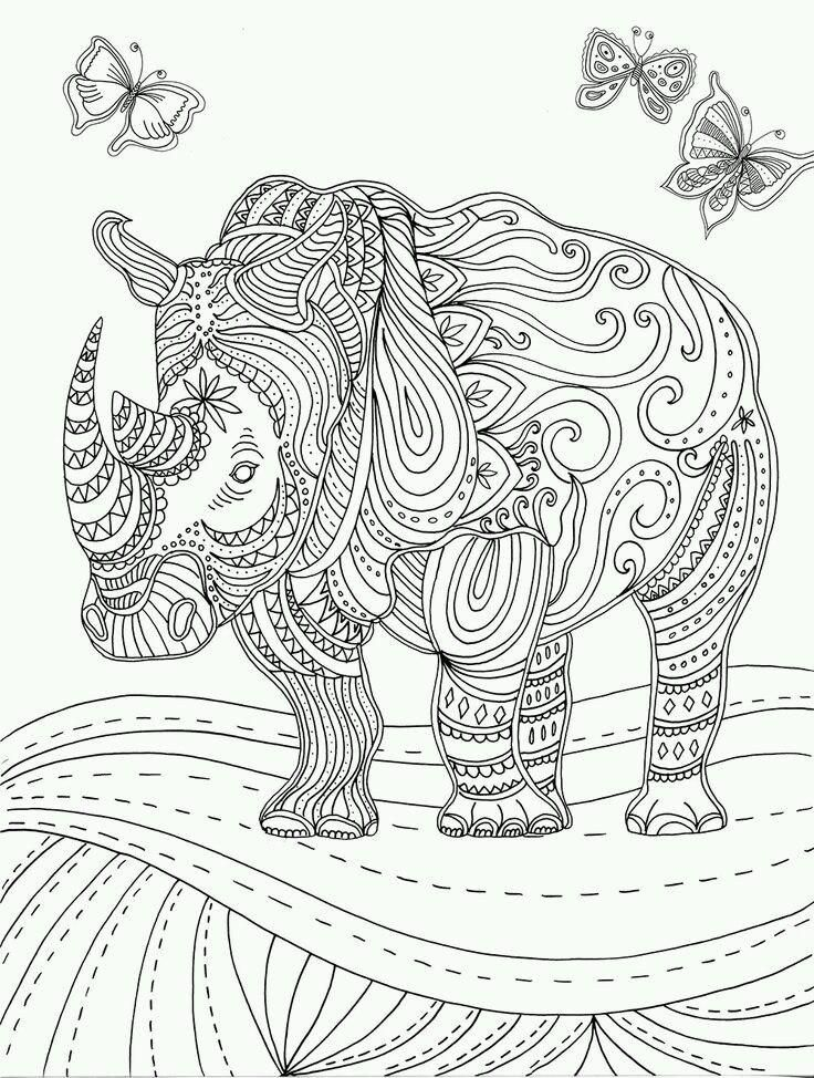 rhinoceros coloring page animal coloring pages for adults animal coloring pages free adult. Black Bedroom Furniture Sets. Home Design Ideas