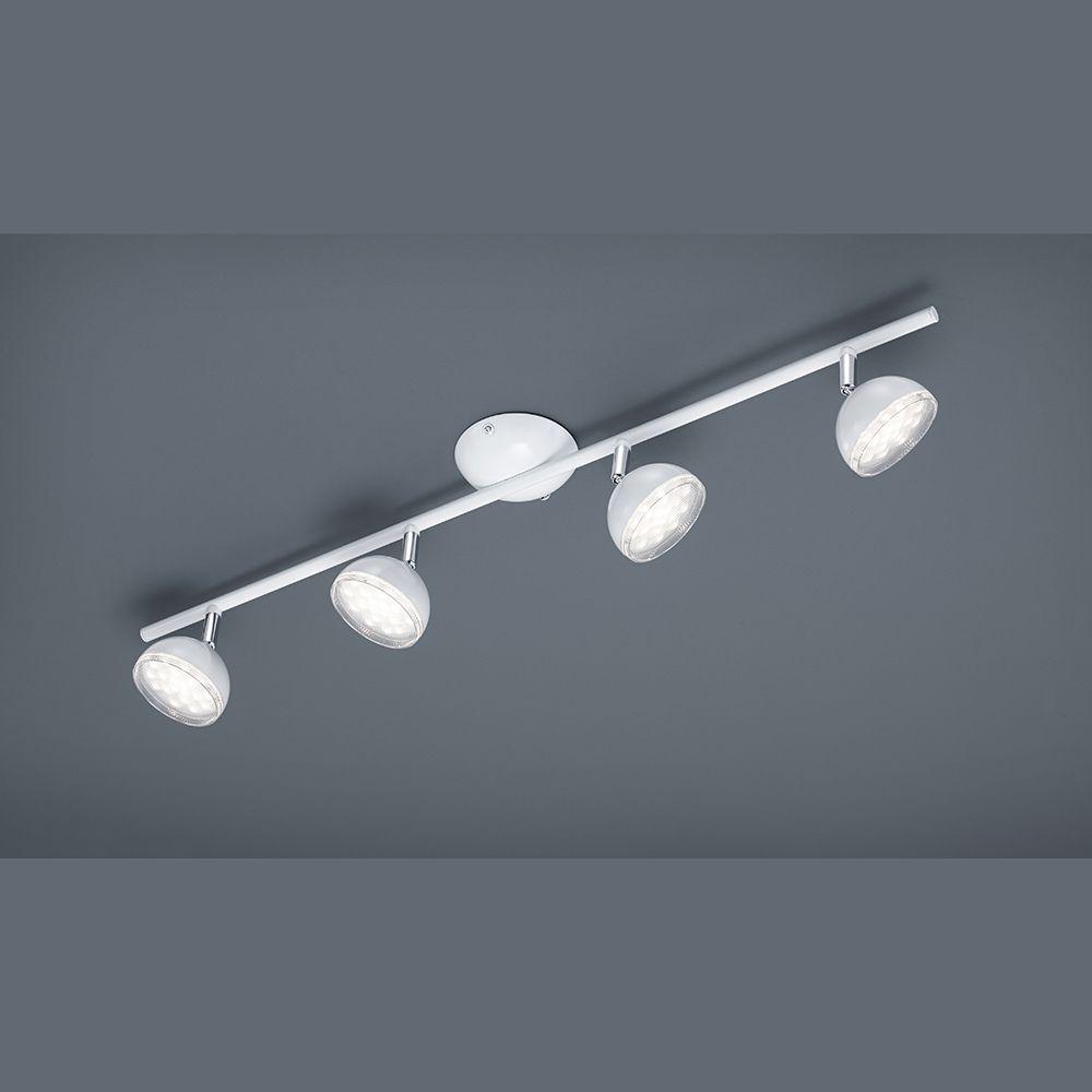 Balken-Deckenleuchte mit 4 verstellbaren LED-Strahler in weiß ...